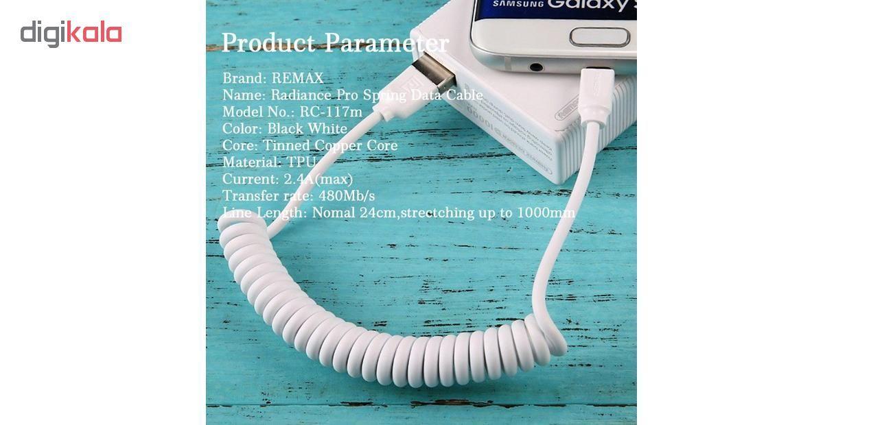 کابل تبدیل USB به لایتنینگ ریمکس مدل RC-117i  طول 1 متر main 1 1