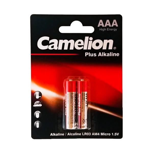باتری نیم قلمی کملیون مدل Plus Alkaline بسته 2 عددی