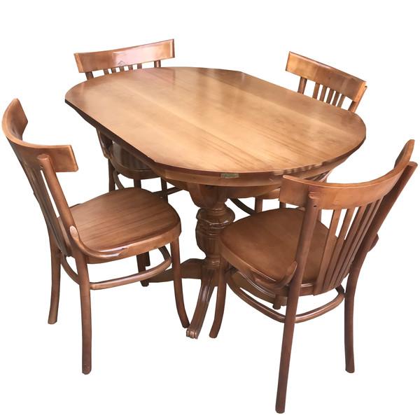 میز و صندلی ناهار خوری اسپرسان چوب مدل SM34