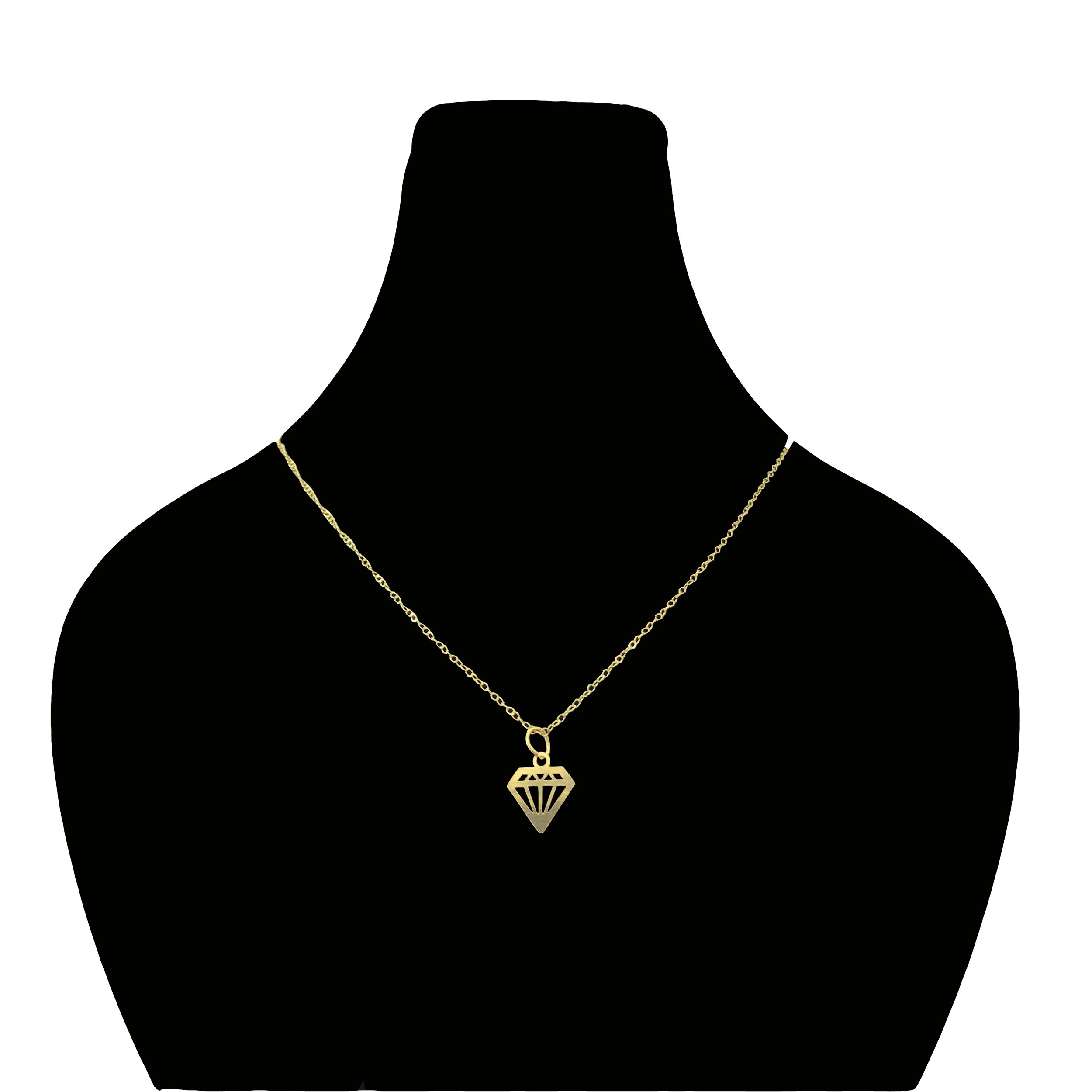 قیمت گردنبند طلا 18 عیار زنانه گیرا گالری طرح الماس