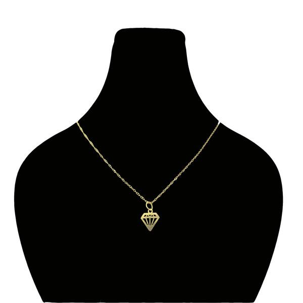 گردنبند طلا 18 عیار زنانه گیرا گالری طرح الماس
