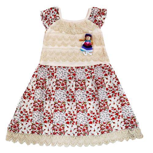 پیراهن نوزادی دخترانه طرح عروسکی