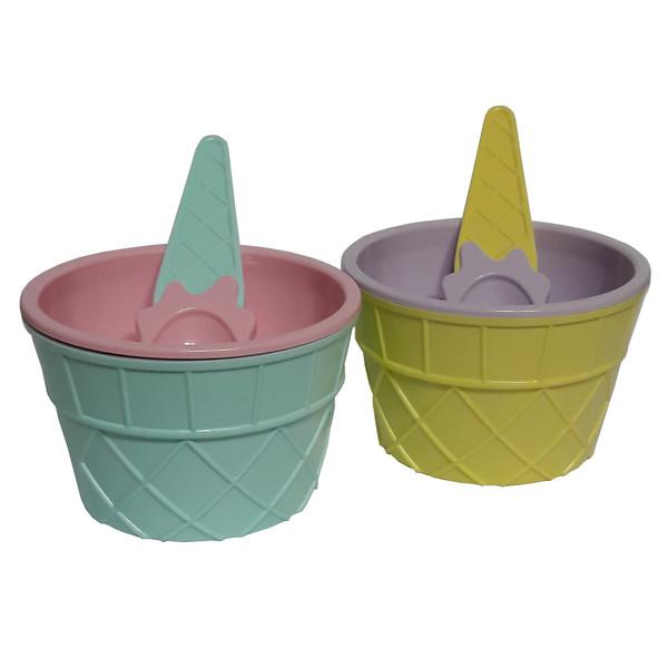 ست بستنی خوری 4 پارچه لوکس پلاستیک سری Qlux کد 612