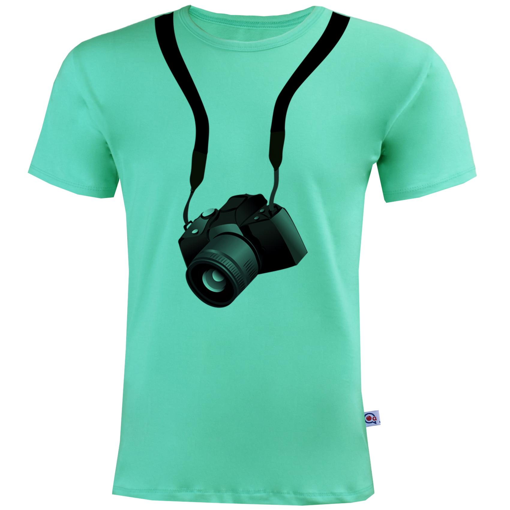 تیشرت مردانه آکو طرح دوربین کد BC12
