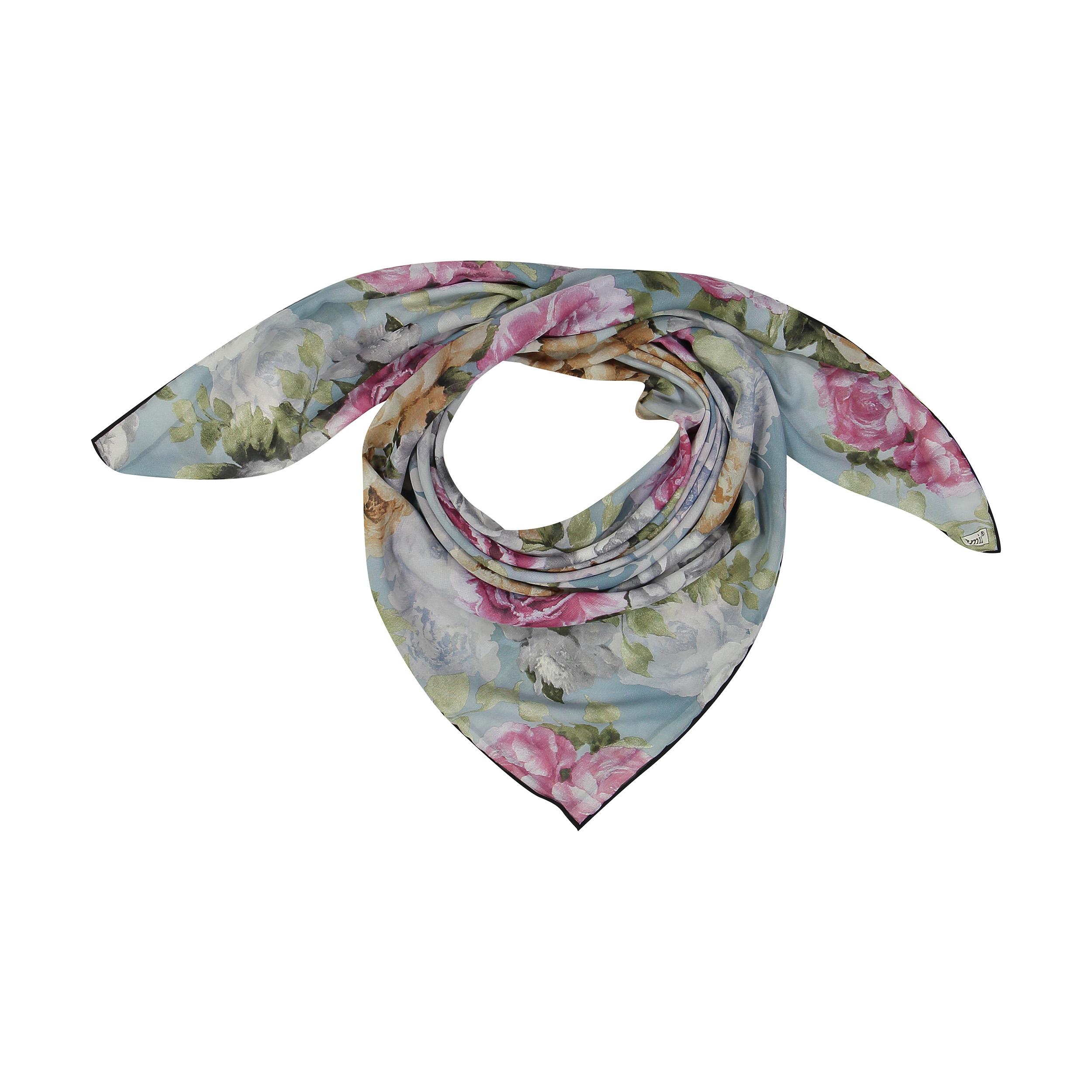 روسری زنانه لمیز طرح گلستان کد 356