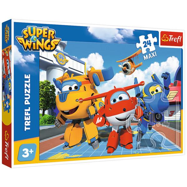 پازل 24 تکه ی تریفل طرح Super Wings