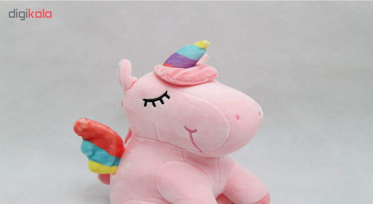 عروسک طرح اسب رنگین کمان ارتفاع 20 سانتی متر