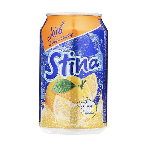 نوشیدنی گازدار پرتقال استینا حجم 330 میلی لیتر