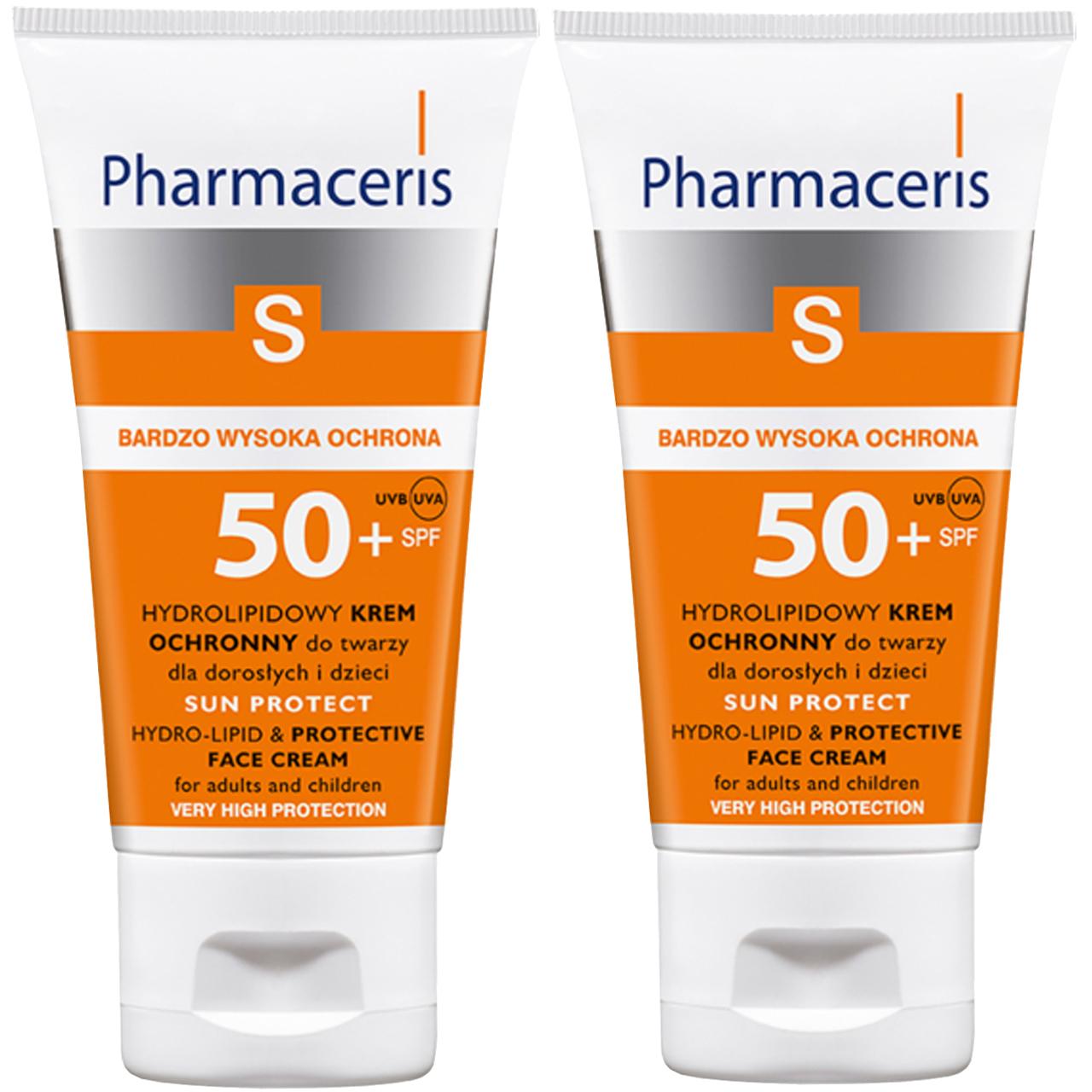 قیمت کرم ضد آفتاب فارماسریز مدل Hydrolipid SPF50 حجم 50 میلی لیتر بسته دو عددی