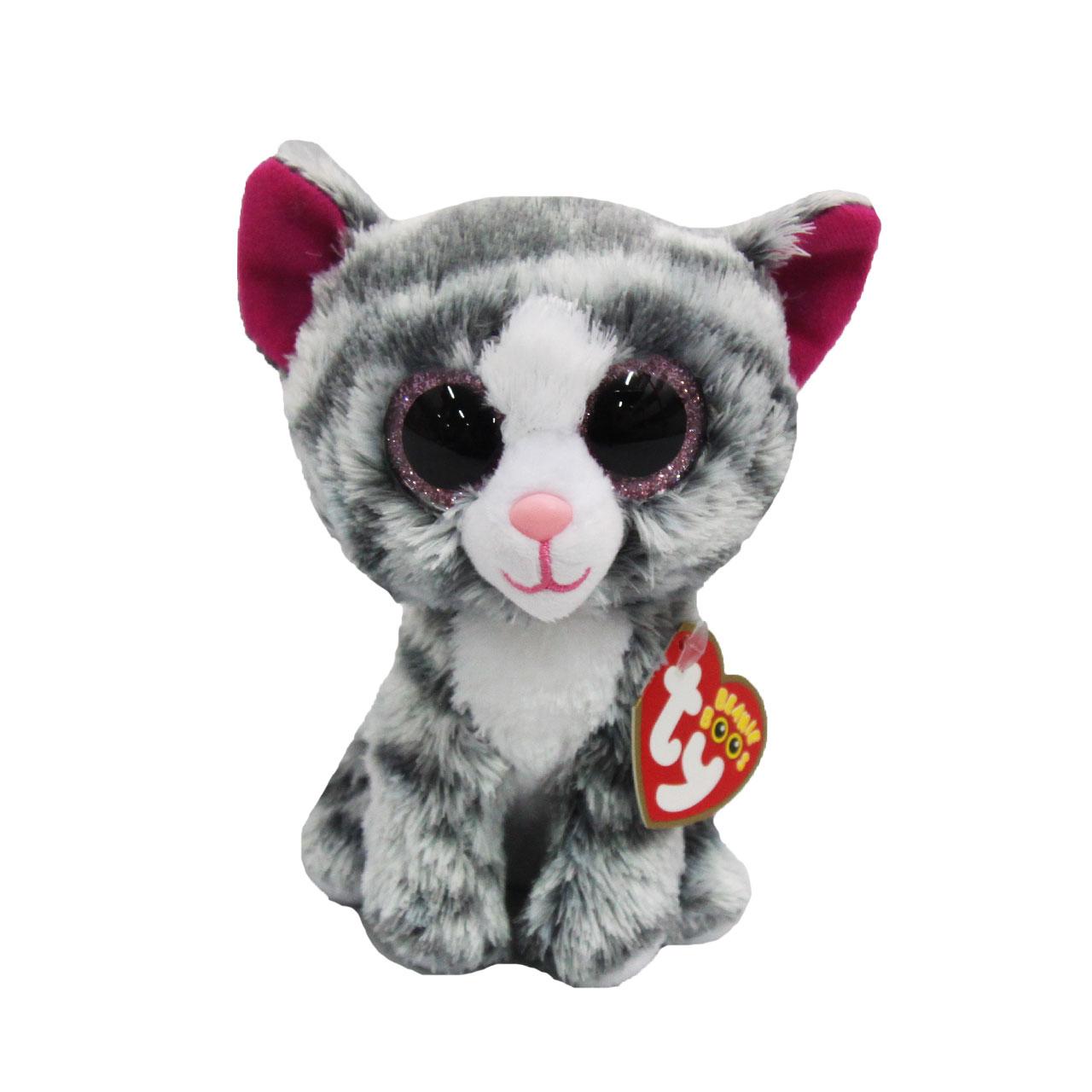عروسک تی وای طرح حیوانات چشم تیله ای مدل T365 ارتفاع 15 سانتی متر