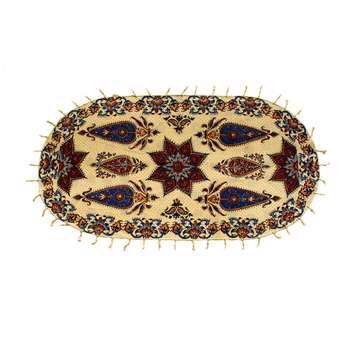 روميزي قلمكارممتاز اثر عطريان طرح خورشيد مدل G231سایز 80*40 سانتی متر