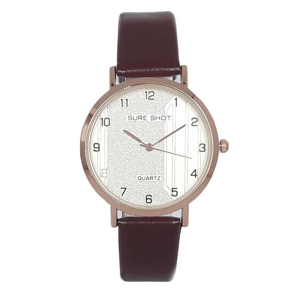 ساعت مچی عقربه ای زنانه سوری شات مدل SUR 9966 / GHER به همراه دستمال مخصوص نانو کلیر واچ 7