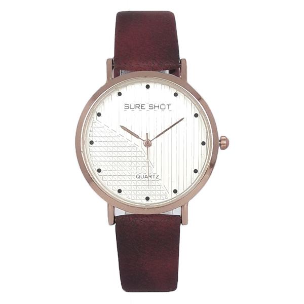 ساعت مچی عقربه ای زنانه سوری شات مدل SUR 9955 / GHER به همراه دستمال مخصوص نانو کلیر واچ 9