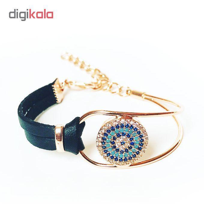 دستبند زنانه طرح چشم نظر کد 1LSD46 main 1 3