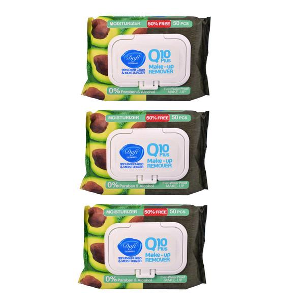 دستمال مرطوب دافی مدل 1 Q10 moisturizer مجموعه 3 عددی