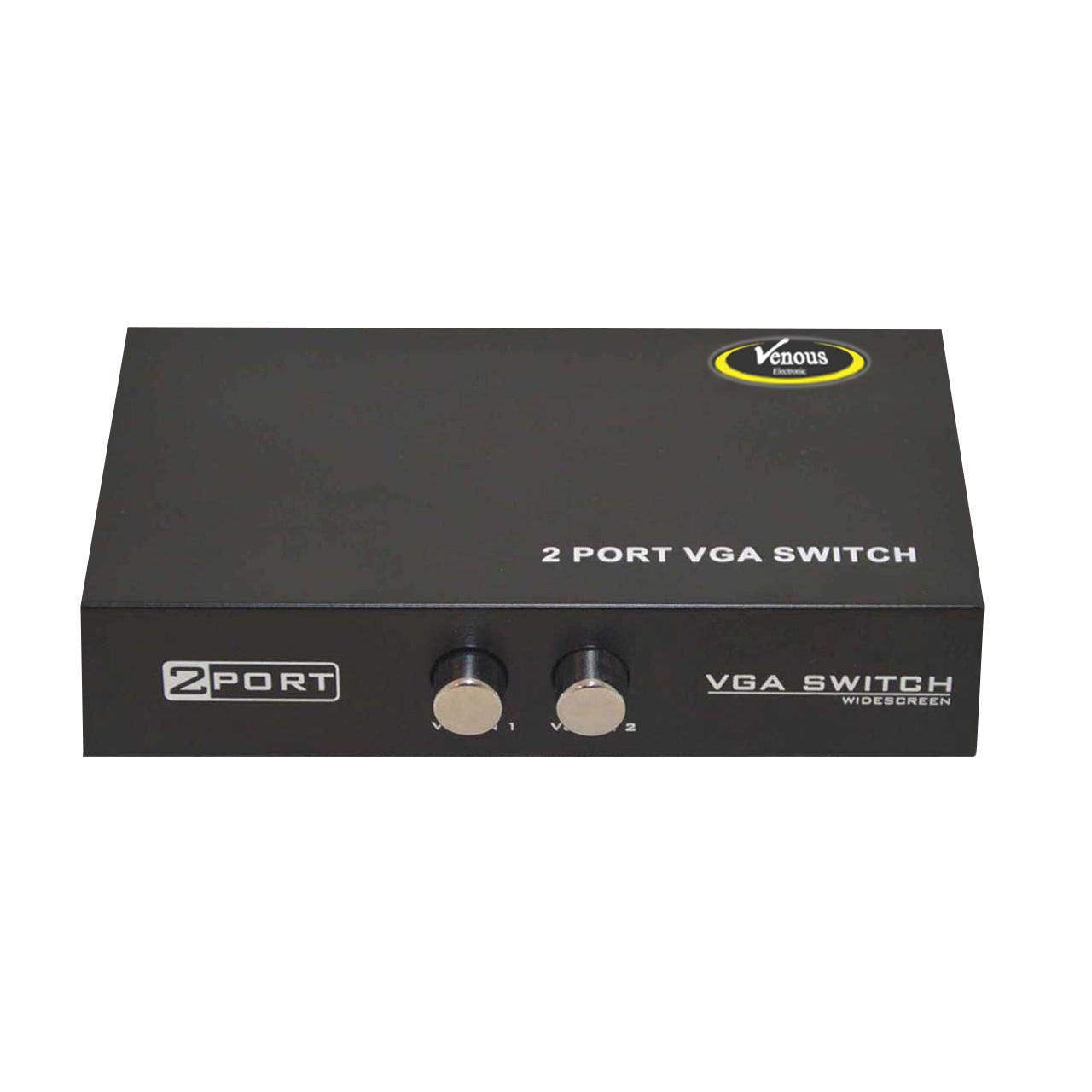 بررسی و خرید [با تخفیف]                                     سوییچ دو پورت VGA ونوس مدل PV-T908                             اورجینال