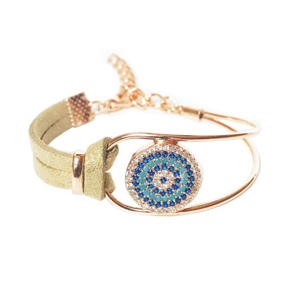 دستبند زنانه طرح چشم نظر کد 1LSD46