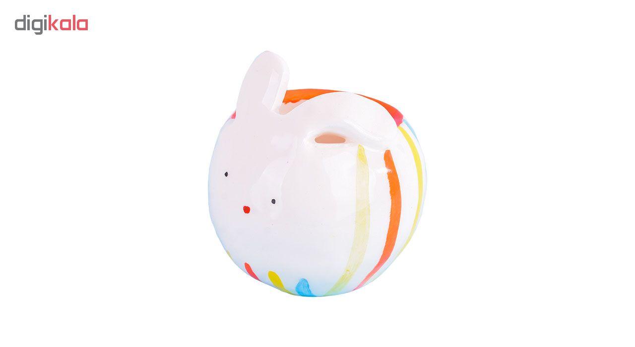 گلدان سرامیکی طرح خرگوش مدل 00-12