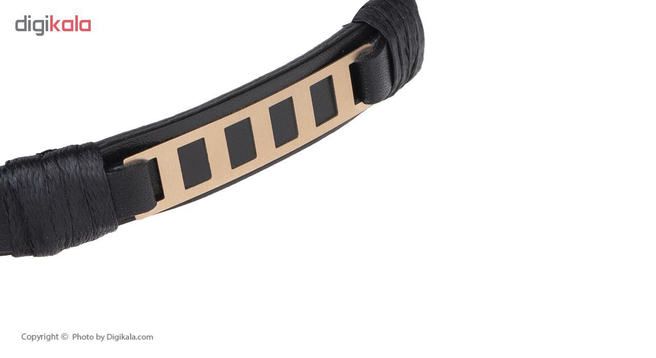 دستبند مردانه مدیاگلد کد MGL-D0392