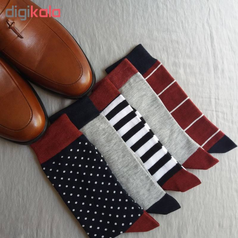 جوراب مردانه ال سون کد PH111 مجموعه 5 عددی