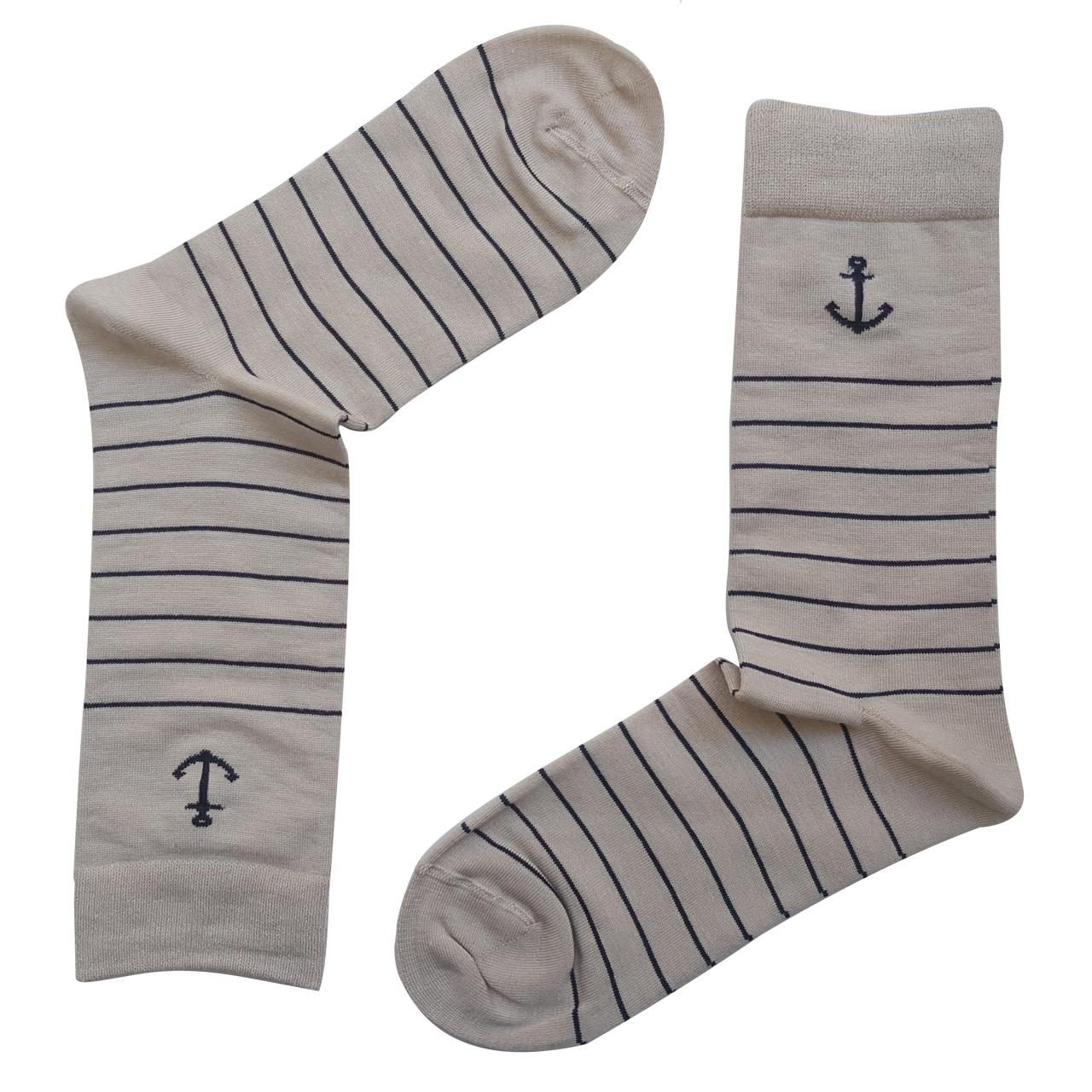 جوراب مردانه ال سون طرح لنگر کد PH112
