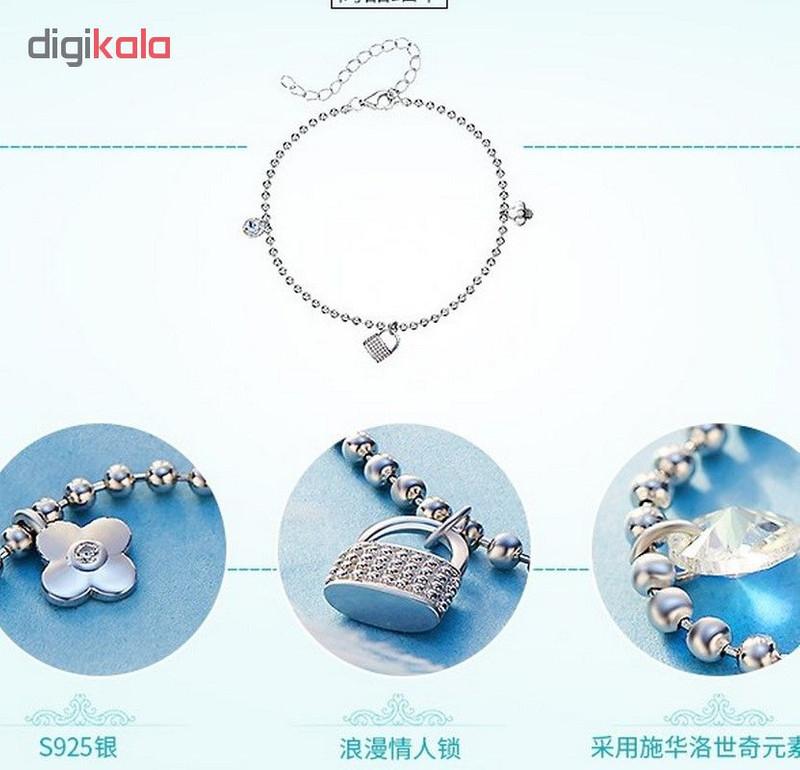 پابند نقره زنانه کد GB0462