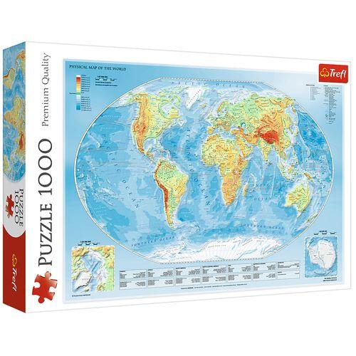 پازل  1000 تکه تریفل طرح نقشه جهان