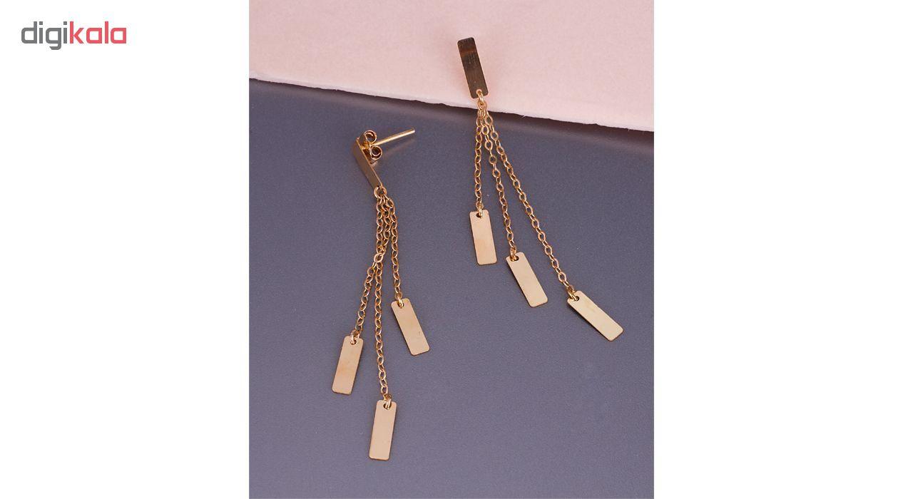 سرویس طلای 18 عیار زنانه گالری مرجان مدل 0898