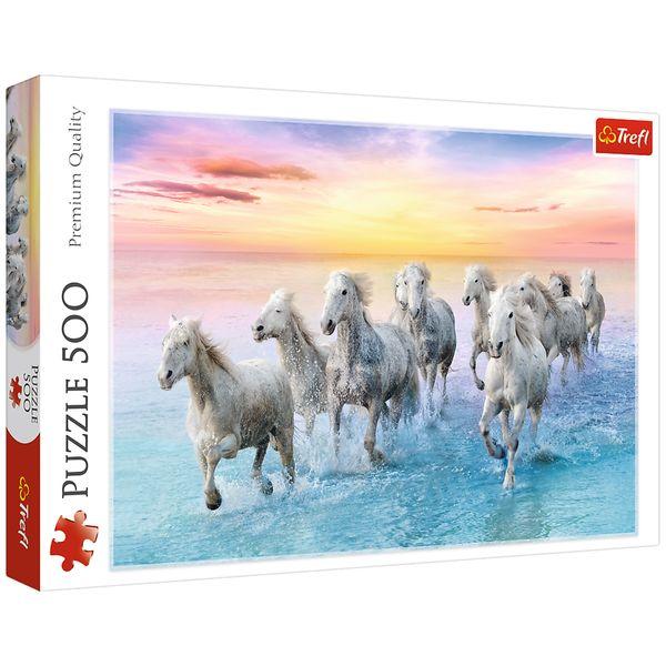 پازل 500 تکه تریفل مدل White Horses