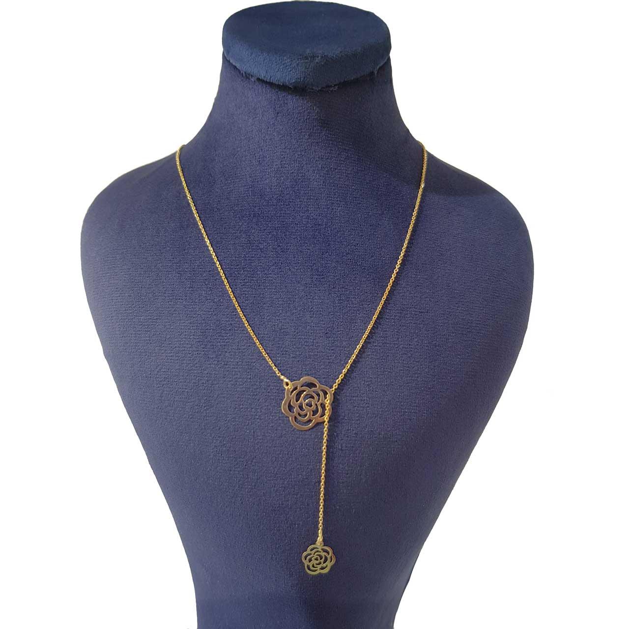 گردنبند طلا 18 عیار زنانه کانیار گالری مدل GA427