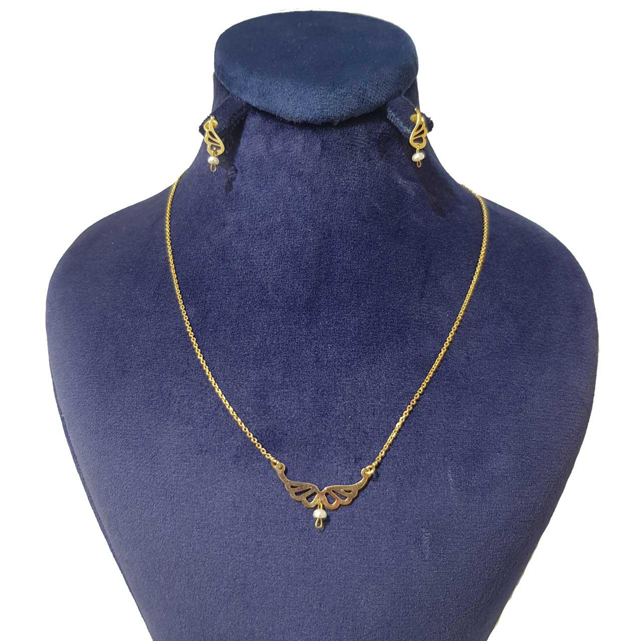قیمت نیم ست طلا 18 عیار زنانه کانیار گالری مدل N414