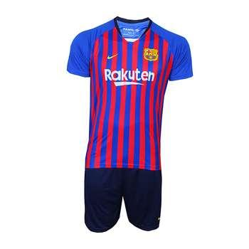 پیراهن و شورت ورزشی پانیل طرح تیم بارسلونا کد 3019