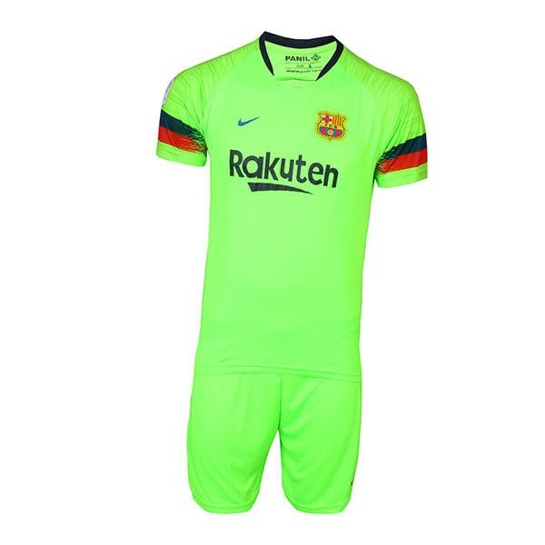 پیراهن و شورت ورزشی پانیل طرح تیم بارسلونا کد 3039