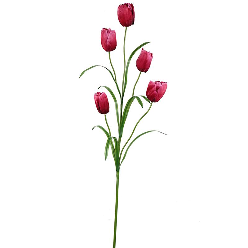 گل مصنوعی هومز طرح لاله کد 1045 بسته 2 عددی
