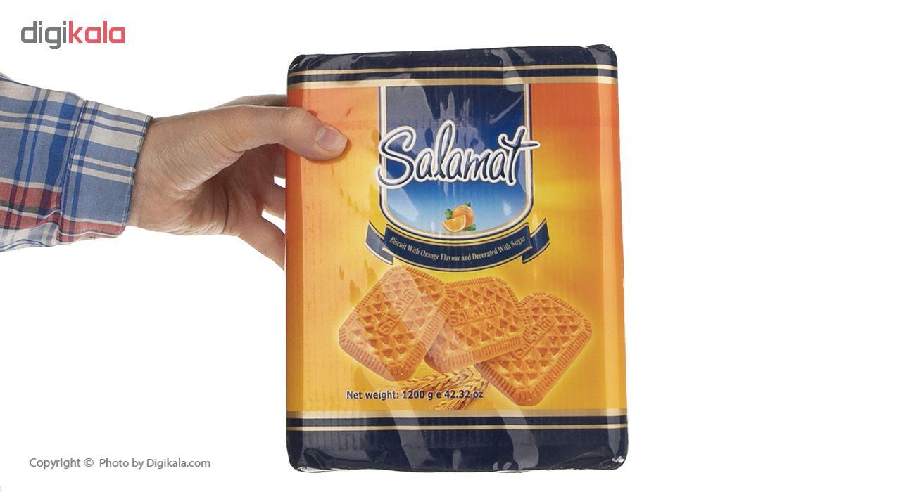 بیسکویت سلامت با طعم پرتقال با تزئین شکر مقدار 1200 گرم main 1 4