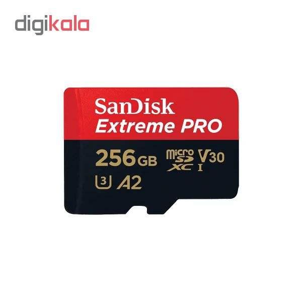 کارت حافظه microSDXC سن دیسک مدل Extreme PRO کلاس A2 استاندارد UHS-I U3 سرعت 170MBs ظرفیت 256 گیگابایت main 1 1