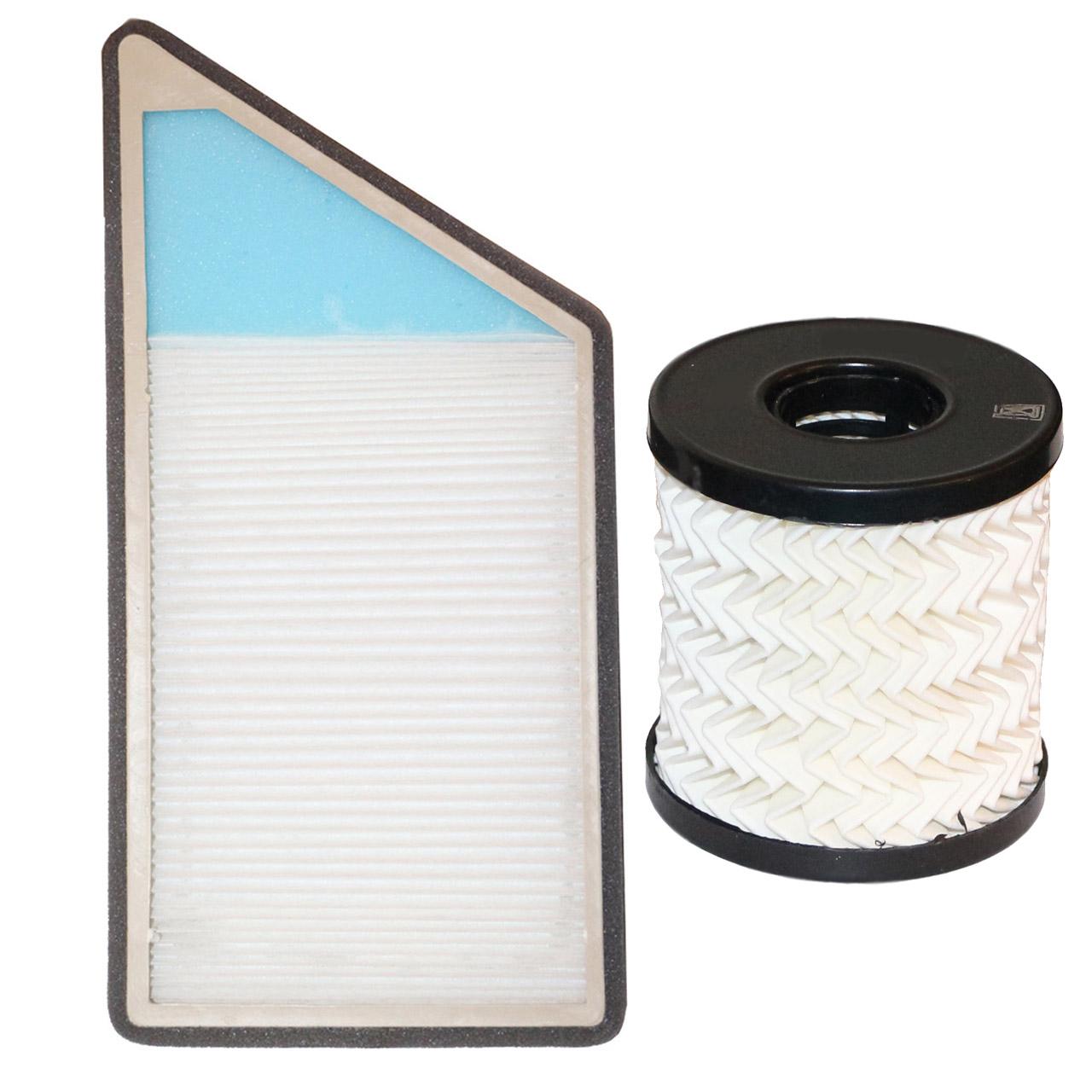 فیلتر کابین خودرو مدل LF2 مناسب برای پژو 206 و 207 به همراه فیلتر روغن