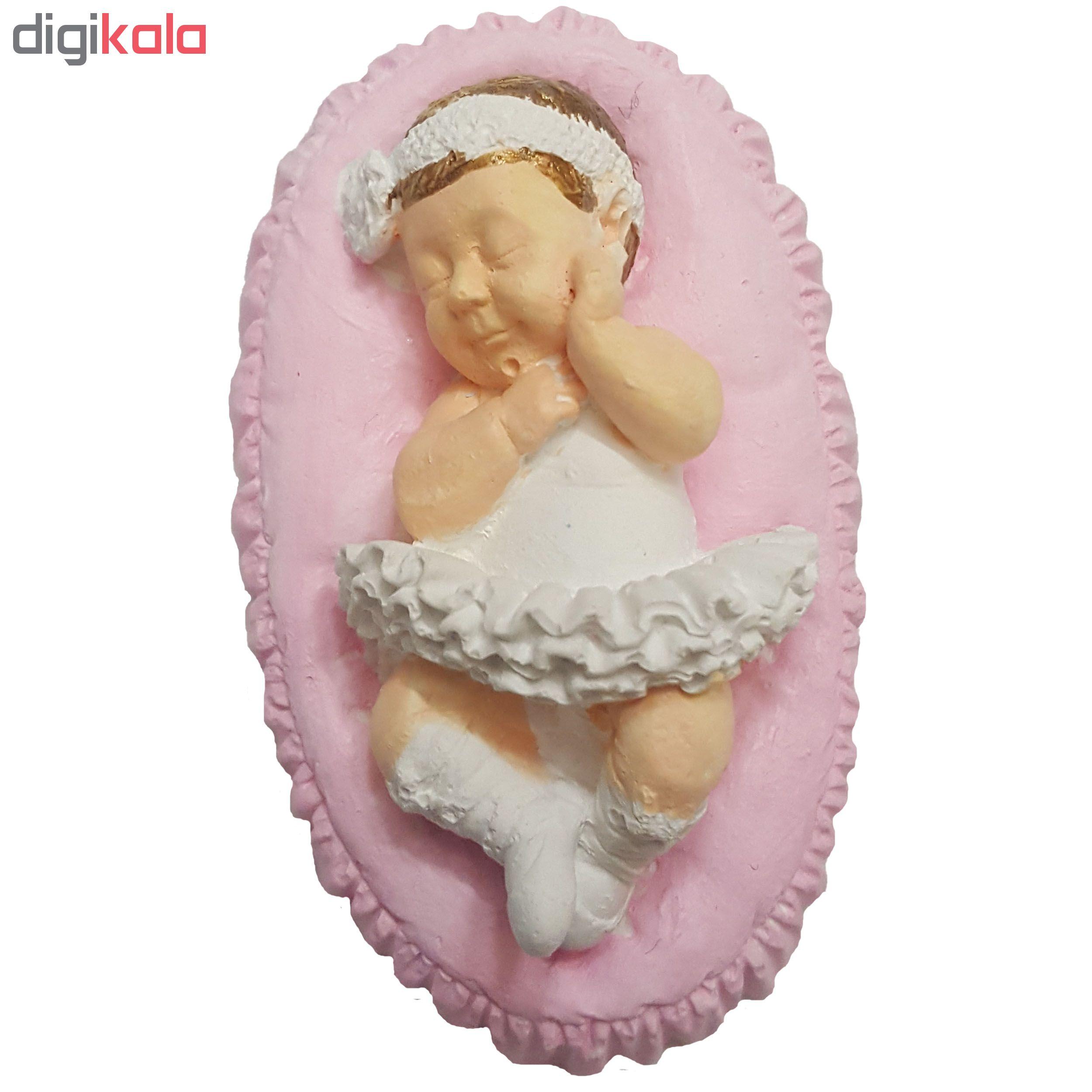 گیفت تولد طرح نوزاد دختر کدM607 بسته 5 عددی