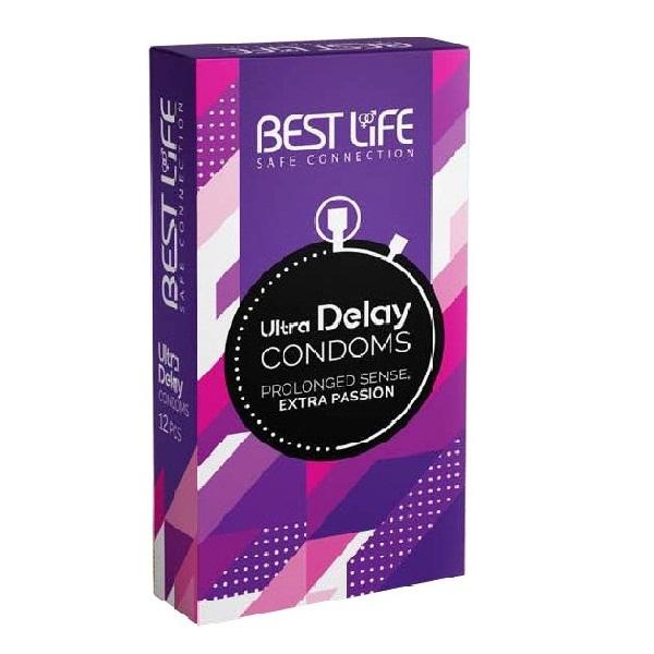 کاندوم بست لایف مدل Ultra Delay بسته 12 عددی