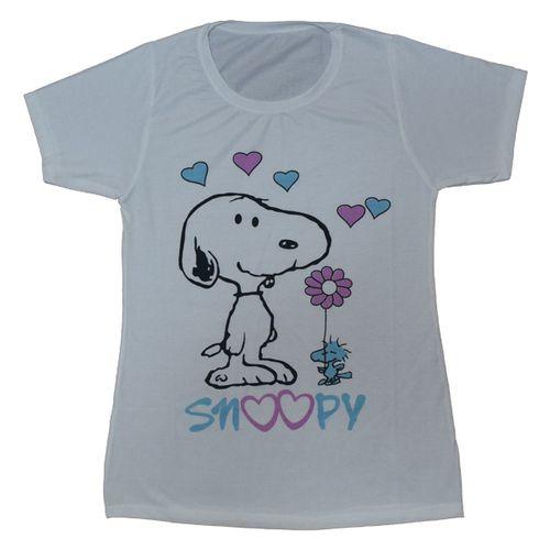 تی شرت زنانه طرح اسنوپی عاشق