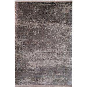 فرش ماشینی زمرد مشهد طرح پتینه کد TA101 زمینه طوسی