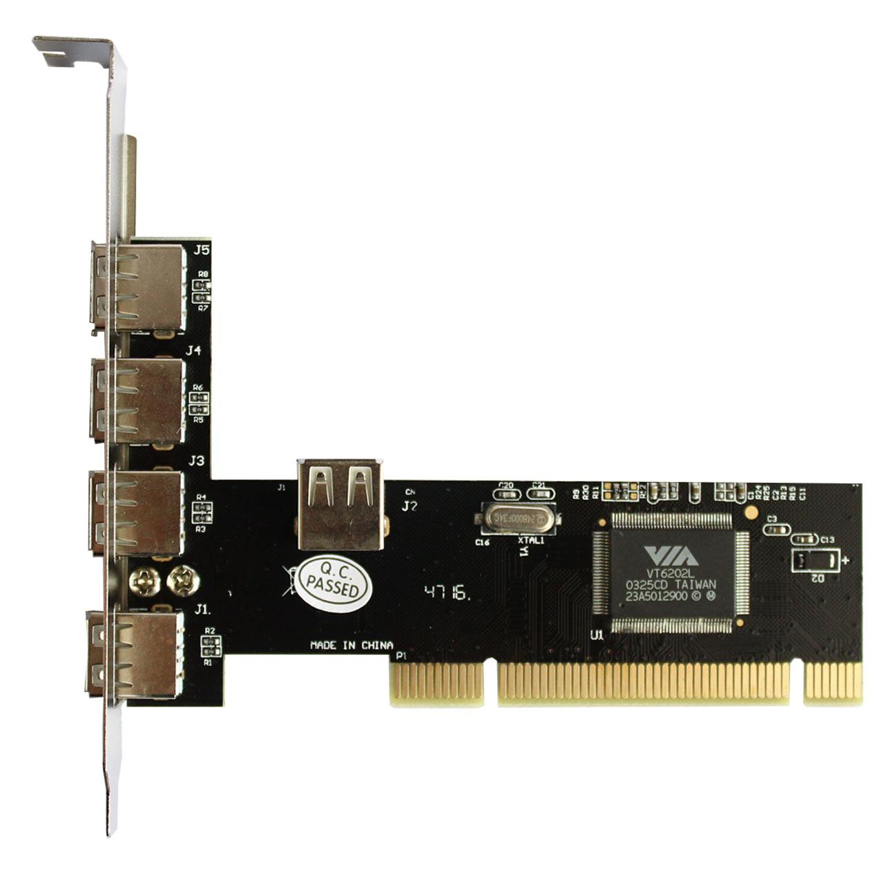هاب USB 2.0 پنج پورت PCI ویپرو مدل WP-005