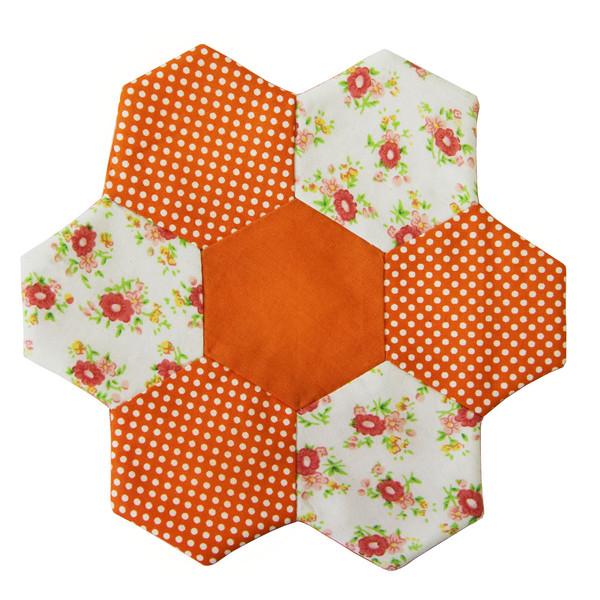 زیر بشقابی مینا عابد طرح باغچه نارنج