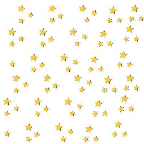 استیکر چوبی ژِیوار طرح ستاره ها مجموعه 170 عددی