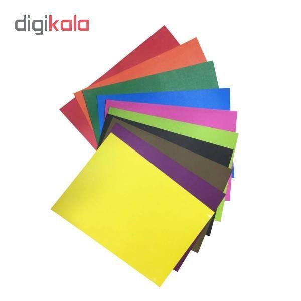 مقوا رنگی سایز ۳۴×۲۴ بسته ۲۰ عددی (۱۰ رنگ از هر کدام ۲ عدد) main 1 1
