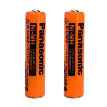 باتری نیم قلمی قابل شارژ پاناسونیک مدل BK-4LDAW ظرفیت 650 میلی آمپر ساعت بسته 2 عددی