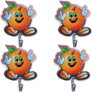 قلاب آویز حوله طرح پرتقال بسته 4 عددی