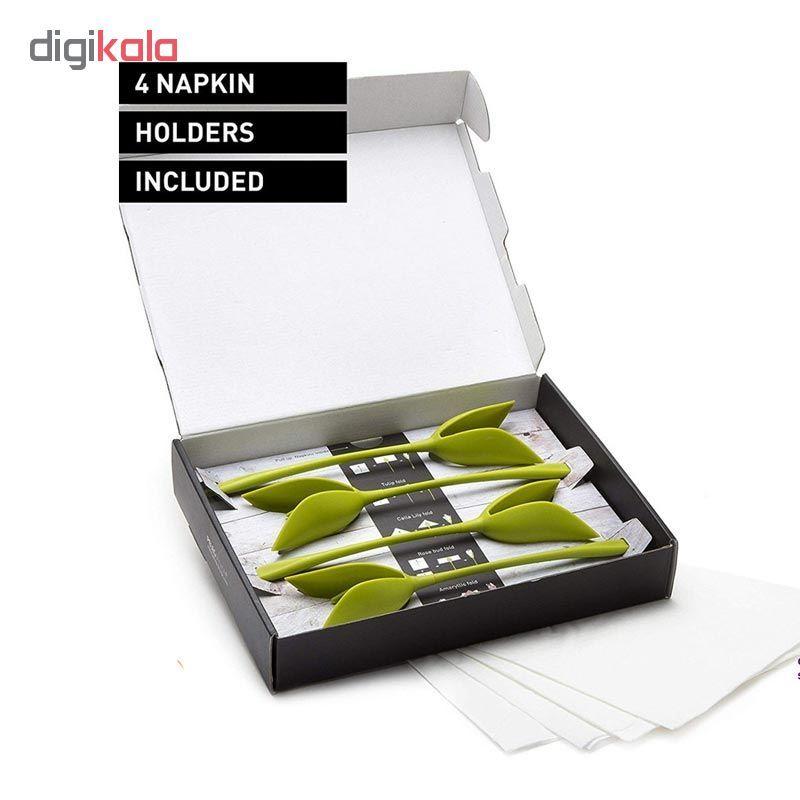 نگهدارنده دستمال سفره بلوم طرح گل رز مجموعه 4 عددی main 1 3