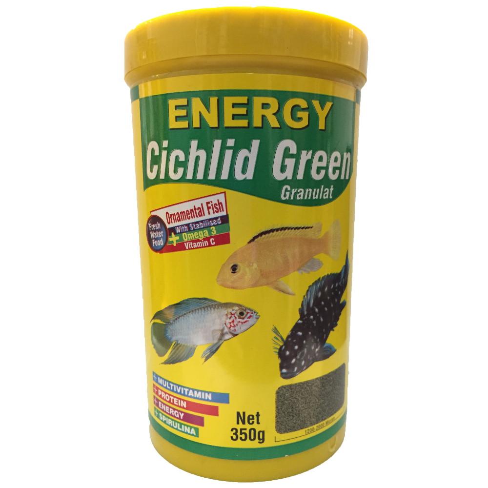 غذا ماهی انرژی مدل Cichilid green granulat حجم 1000 میلی لیتر