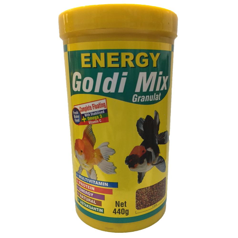 غذا ماهی انرژی مدل Goldi Mix Granulat وزن 440 گرم